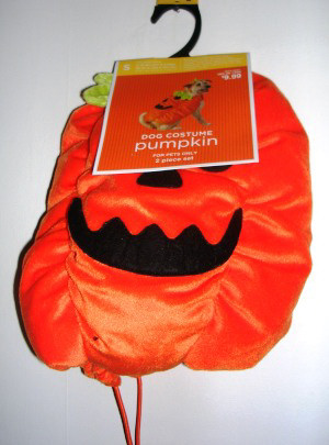 Dog Pet Costume Pumpkin Outfit Small